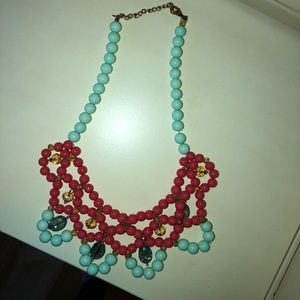 Bright Pink/Baby Blue Necklace